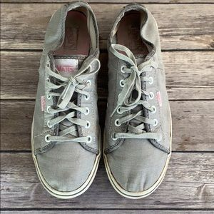Vans Pink and Gray Sneakers size 9